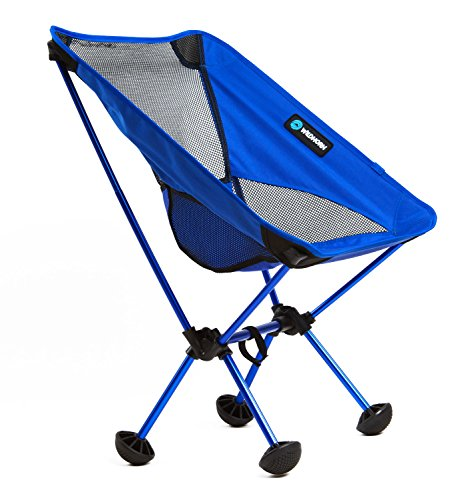 WildHorn Outfitters Terralite Portable Camp / Beach Chair (Supports 350 lbs) with TerraGrip Feet - Dark Blue