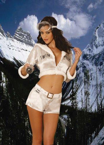 Twin Peaks Ski Patrol Sexy Halloween Costume for Girls (Large) -