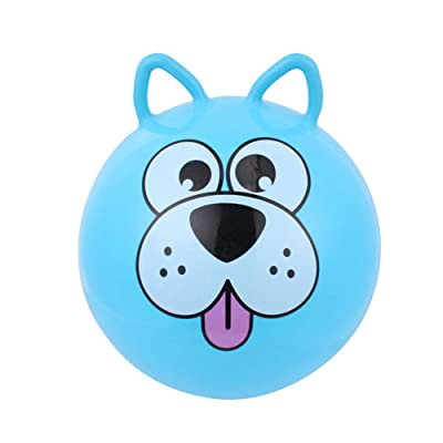 Jitejoe Space Hopper Ball, 18Inch/45CM Diameter for Ages 3-14, Jumping Ball, Sit, Kangaroo Bouncer, Hippity Hop, Outdoor Play Pogo Ball (Blue Puppy): Toys & Games