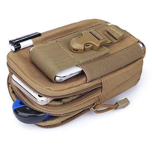 G4Free Taktische Molle-Tasche, Kompaktes EDC-Utility-Gadget, Taillen-Molle-Tasche, Rucksack, CCW Fanny Pack mit Handyhalter zum Laufen, Radfahren, Wandern, Campen, Klettern hautfarben