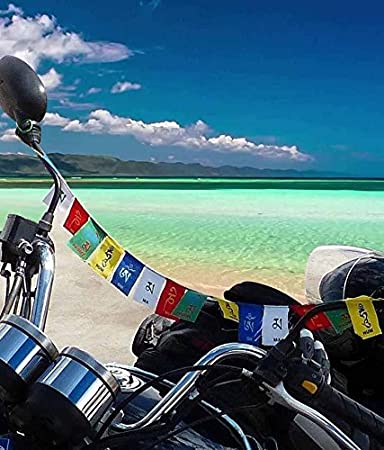 Improvhome Tibetan Buddhist Prayer Flags for Motorbike