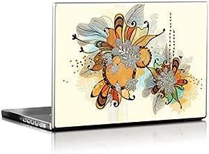 Sunset Flowers Design Installable laptop Skin for 15.7 inch laptops