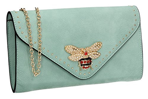 SWANKYSWANS Wedding Ladies Bag Party Bee Clutch Queen Shannon Night Out Evening Stud Celebrity Blue Prom IYqwRYS4r