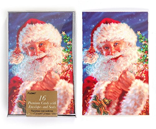 DDI 2127657 Santa Clause Boxed Christmas Cards - Count of 16 - Case of 12