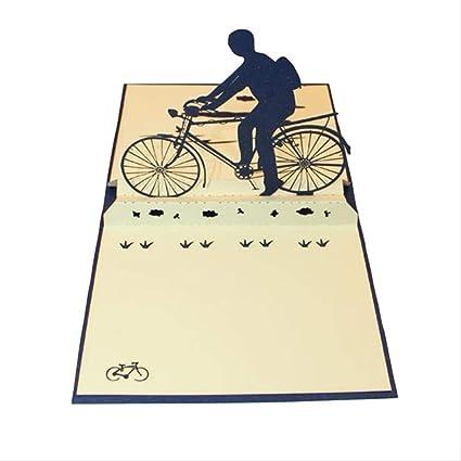 Tarjeta de felicitación de bicicleta de papel 3d Pop Up Postal ...