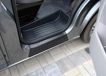 DSC011 Transporter T5 2003-2016 Door Sill Covers Protectors BLACK Front SET