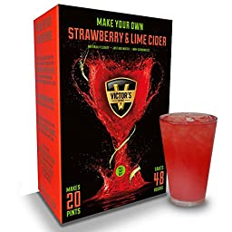 Victors Drinks Strawberry and Lime Cider Kit Christmas Xmas Holiday Present