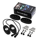 Mophorn 8 Pods Led Rock Lights Multicolor RGB Led Rock Lights Kits Bluetooth Wireless Remote Controller Underbody Lights for Jeep Off Road Truck Car with Timing Music Mode Cellphone APP (8PCS)