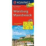 Würzburg - Maindreieck: Fahrradkarte. GPS-genau. 1:70000 (KOMPASS-Fahrradkarten Deutschland, Band 3073)