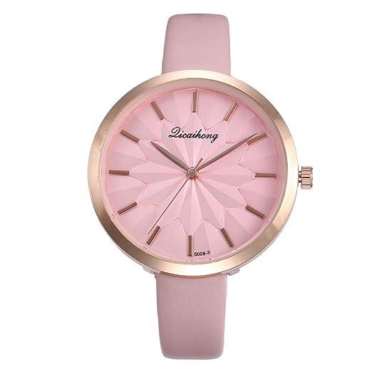 Relojes Pulsera Mujer,Reloj De Pulsera Redondo De Cuarzo Analógico De Moda Casual Watch para Mujer: Amazon.es: Relojes