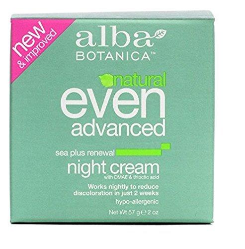 Alba Botanica, Even Advanced, Sea Plus Renewal Night Cream, 2 oz (57 g) Set of 2 Alba Sea Plus Renewal Cream