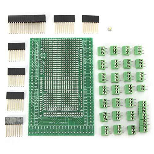 Shumo Kit de Placa de Protecci/óN de Bloque de Terminales de Tornillo Prototipo PCB de Doble Cara para Placa de Expansi/óN MEGA-2560