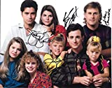 #1: Full House Cast Signed Autographed 8 X 10 Reprint Photo - Mint Condition
