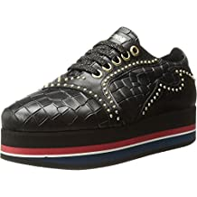 Just Cavalli Womens Cocco Printed Leather Sneaker