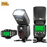 2PCS PIXEL M8 GN60 Flash Speedlite + Pixel King pro Transceiver for Canon DSLR Cameras