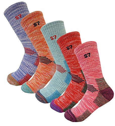 5Pack-Womens-Multi-Performance-Cushion-HikingOutdoor-Crew-Socks-Year-Round
