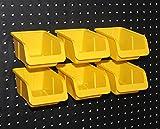 WallPeg Pegboard Bin Kit - Peg board Parts Storage Craft Organizer Basket 6 Bin Kit