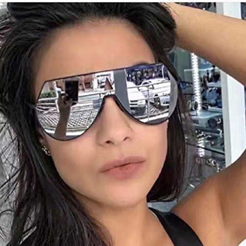 Ikevan 2017 Women Men Vintage Retro Square Frame Glasses Unisex Fashion Aviator Sunglasses - Painting Sunglasses