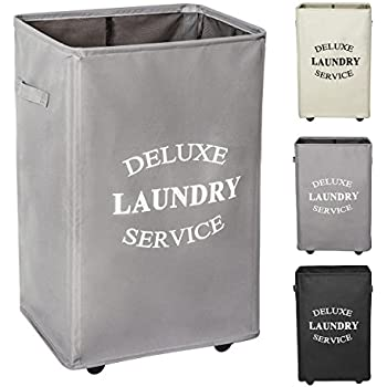 Amazon Com Wowlive Large Rolling Laundry Hamper With
