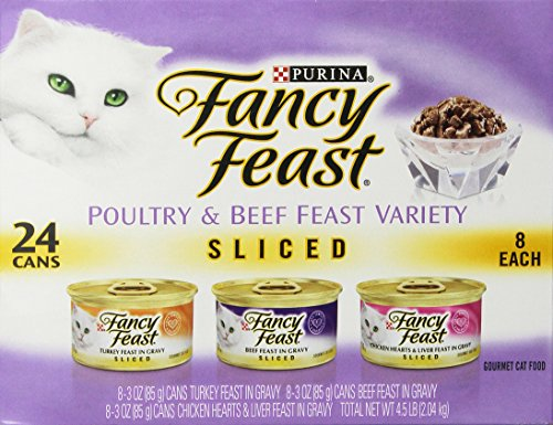 Purina Fancy Feast Sliced Poultry & Beef Collection Cat Food - (24) 3 oz. Cans
