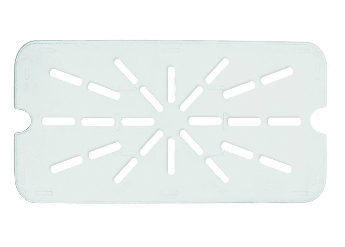Update International PCP-100DS Polycarbonate Food Pan Drain Shelf, Full Size, Polycarbonate