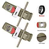 Amagoing Tourniquet Set- Single Hand Application First Aid Military Tactical Emergency Strap (Army Green-2 Pack)