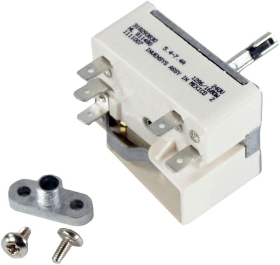 Part 903136-9010 Range Surface Element Control Switch Kit Genuine Original Equipment Manufacturer OEM