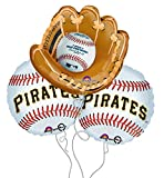 Pittsburgh Pirates Baseball Mitt Mylar Balloons - 3 Pack