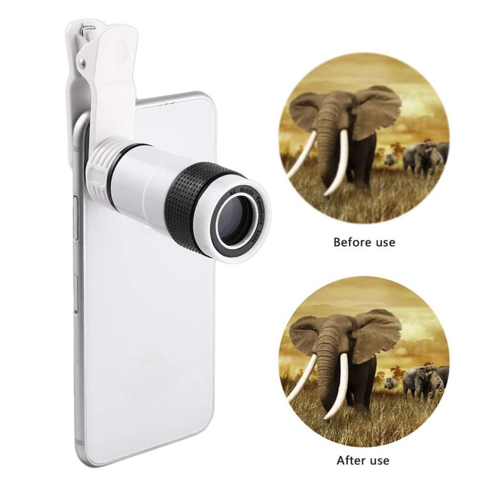 【高額売筋】 12x ミニ 単眼鏡 高倍率 単眼鏡 望遠鏡 長焦点レンズ 長焦点レンズ ユニバーサル デジタルカメラ携帯電話用 ホワイト 12x B07H8Z65NP, 健康学園:f3c2851e --- a0267596.xsph.ru