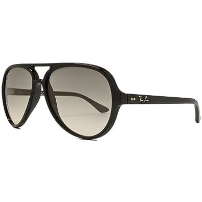 3ab51c769e6439 Ray-Ban CATS 5000 Aviator Sunglasses Black Crystal Grey RB4125 601 32 59.  Passez la souris sur ...