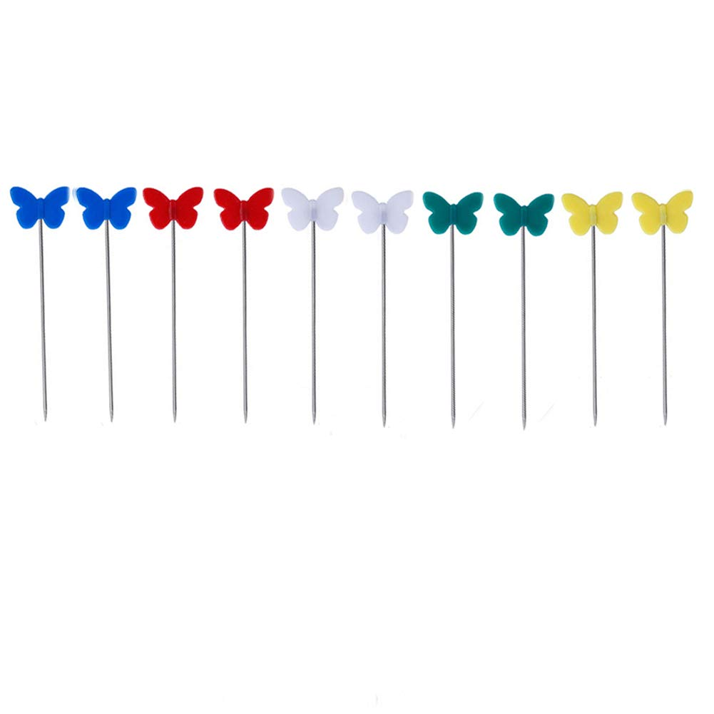 BESTCYC 200pcs 1 3//4 Mixed Colorful Butterfly Head Pins Decorative Pins Boxed for Sewing Crafts