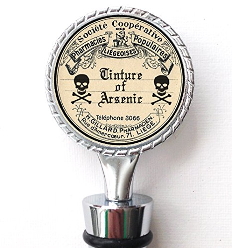 Apothecary Label Wine Bottle Stopper Arsenic Double Sided ()