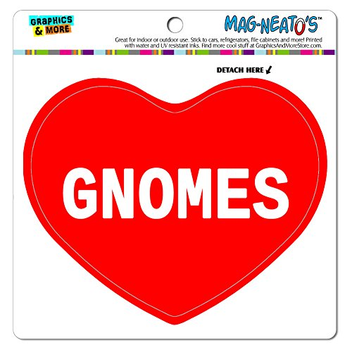 Graphics and More Car Refrigerator Vinyl Magnet I Love Heart Places Things E-I - Gnomes