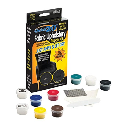 Master Manufacturing ReStor-it Quick 20  Fabric Upholstery Repair Kit, 20 Minute Repar, Fabric Fibers Repairs Any Color Fabric Or Upholstery (18085)