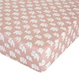 Glenna Jean Elephant Herd - Blush Crib Sheet Fitted 28''x52''x8'' Nursery Standard