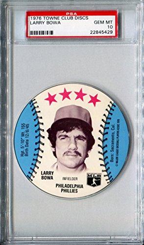 1976-msa-towne-club-sports-discs-larry-bowa-rare-psa-gem-mint-10-sp-philadelphia-phillies-chicago-cu
