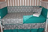 Crib Bedding, Grey Arrow And Turquoise, 6 Piece Reviews