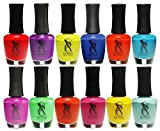 SXC Nail Polish Neon Lacquer 15ml/0.5fl set of Review and Comparison
