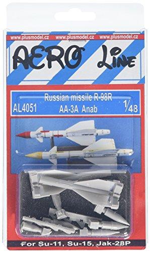 PLUS MODEL(プラスモデル) 1/48 露空対空ミサイルR-98R・2発 プラモデルの商品画像