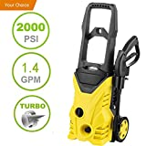 Hurbo 2000PSI 1.4GPM Electric High Pressure Washer Cleaner Machine