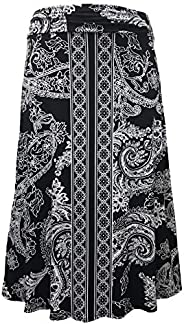 LEEBE Women's Plus Size Maxi Skirt (1X