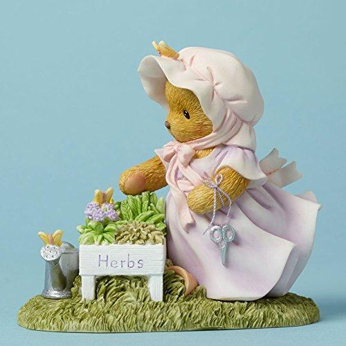 Cherished Teddies There's Always Thyme for Gardening Herb Garden Bear Figurine