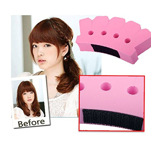 Price comparison product image BUNITA,Sponge Twist Styling Hair Braider Braid Tool Holder Clip DIY French Grace Hair Styling Tool,Hair Tool Holder