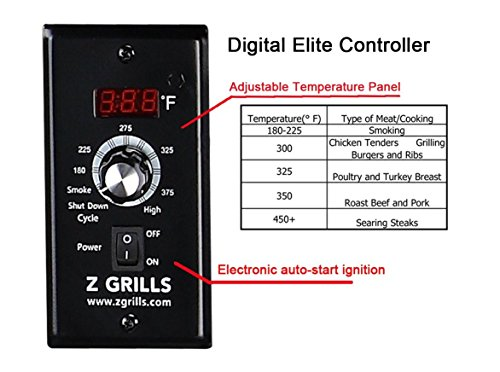 Wood Pellet Grill & Smoker with Patio Cover,700 Cooking Area 7 in 1- Electric Digital Controls Grill for Outdoor BBQ Smoke, Roast, Bake, Braise and BBQ with Storage Cabinet (Free 2 Wood Pellets) by Z GRILLS (Image #4)