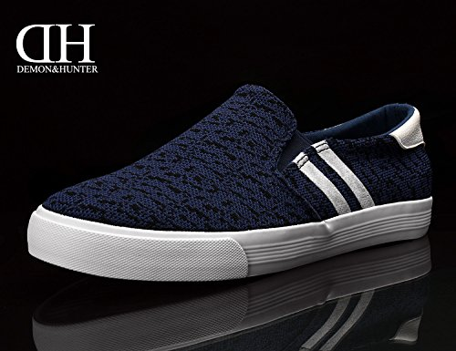 Demon&Hunter KU-DA Series Men's Slip-On Casual Shoes C403297 No.III 403297ub X Blue & Black VMptCG9zX4