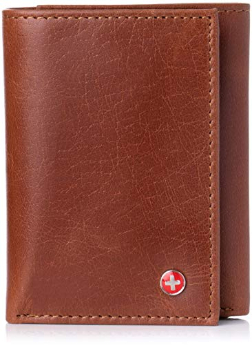 alpine swiss Men's Wallet RFID Blocking Extra