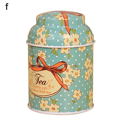(angel3292 Hot sale Fresh Flower Sugar Candy Tea Leaf Tinplate Storage Jar Container Sealed Can Box)