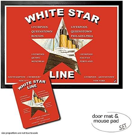 #97322 Titanic White Star Line Dampfschiffe Mauspad Mousepad 23x19cm