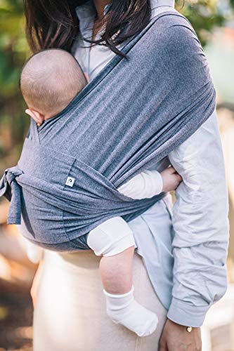 Soft and Breathable Fabric Hassle-Free Baby Wrap Sling Mocha, M Sensible Sleep Solution Konny Baby Carrier Ultra-Lightweight Infants to 45 lbs Toddlers Newborns
