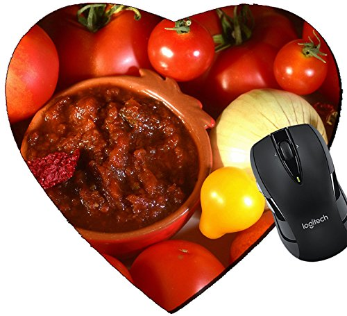 MSD Mousepad Heart Shaped Mouse Pads/Mat design: 30305056 Relish tomatoes with peppers onions and spices in a bowl on a tray